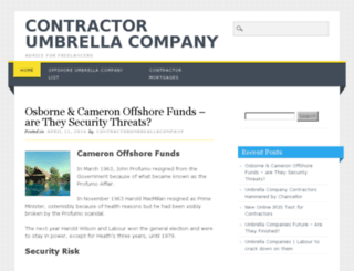 contractorumbrellacompany.com screenshot