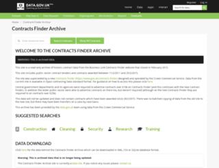 contractsfinder.businesslink.gov.uk screenshot