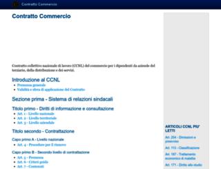 contrattocommercio.it screenshot