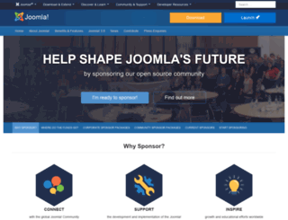 contribute.joomla.org screenshot