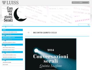 conversazioniserali.luiss.it screenshot
