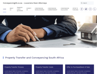 conveyancing24.co.za screenshot
