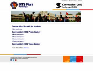 convocation.bits-pilani.ac.in screenshot