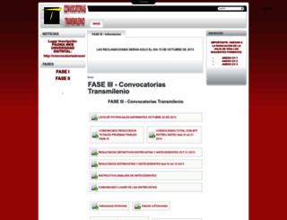 convocatoriastransmilenio.udistrital.edu.co screenshot