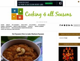 cooking4allseasons.blogspot.com screenshot