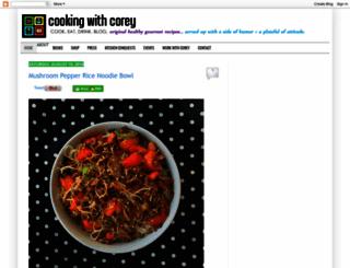 cookingwithcorey.info screenshot