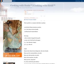 cookingwithheidi.com screenshot