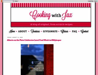 cookingwithjax.com screenshot