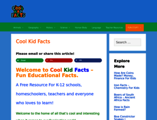 coolkidfacts.com screenshot
