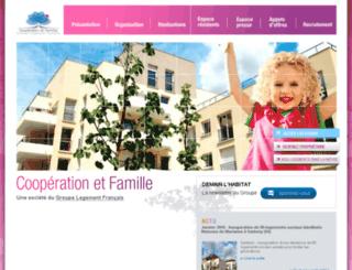 cooperationfamille.fr screenshot