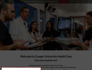 cooperhealth.edu screenshot