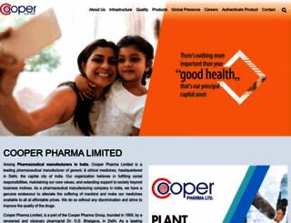 cooperpharma.com screenshot