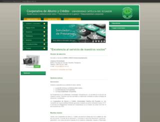 coopuce.puce.edu.ec screenshot