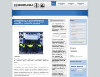 coordinadora.org screenshot