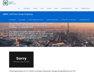 cop21.globalccsinstitute.com screenshot