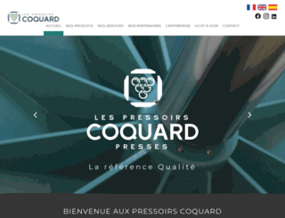 coquardpresses.com screenshot
