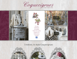 coquecigrues.com screenshot
