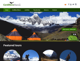 cordillerablanca.info screenshot