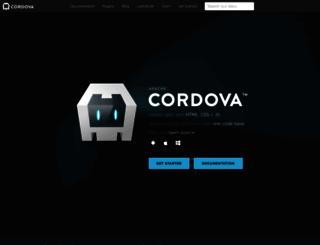 cordova.io screenshot