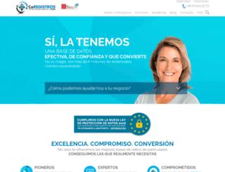 coregistros.com screenshot