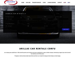 corfu-carrental.com screenshot