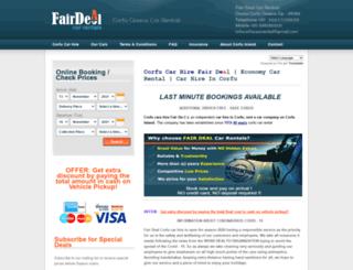 corfucarsrental.com screenshot