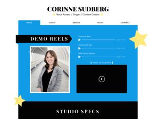corinnesudberg.com screenshot