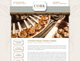 corkcatering.com screenshot