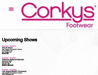 corkysfootwear.com screenshot