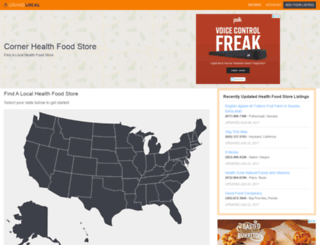 cornerhealthfoodstore.com screenshot