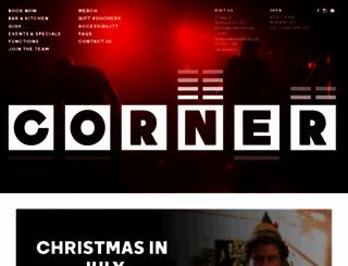 cornerhotel.com screenshot
