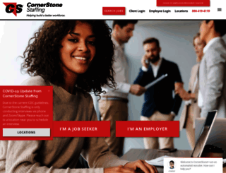 cornerstonestaffing.com screenshot
