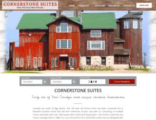 cornerstonesuites.com screenshot