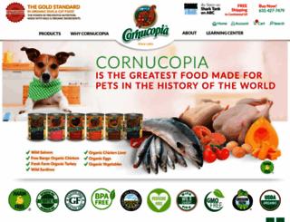 cornucopiapetfoods.com screenshot