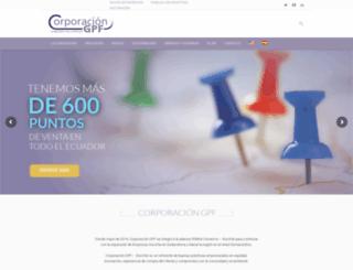 corporaciongpf.com screenshot