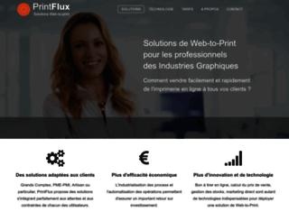 corporate.printflux.com screenshot