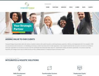 corporatestrategy.co.za screenshot