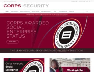 corpssecurity.co.uk screenshot