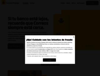 correosprepago.es screenshot