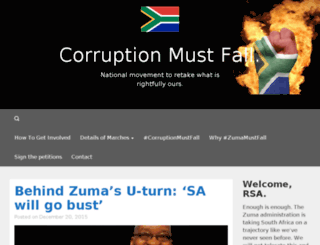 corruptionmustfall.co.za screenshot