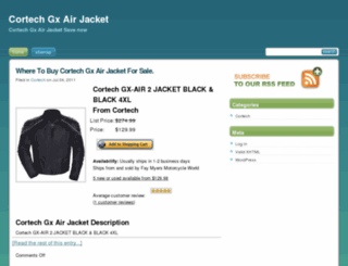 cortechgxairjacket.jbuyi.com screenshot