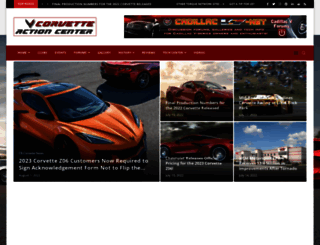 corvetteactioncenter.com screenshot