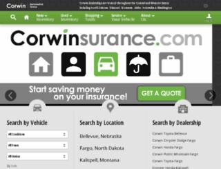 corwinauto.com screenshot