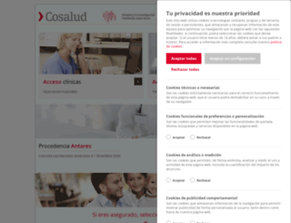 cosalud.com screenshot