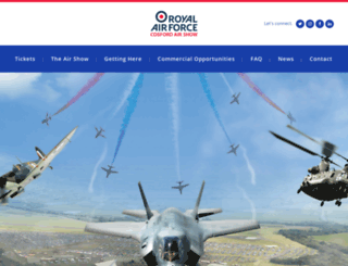 cosfordairshow.co.uk screenshot