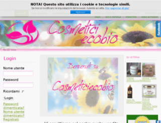 cosmeticiecobio.it screenshot