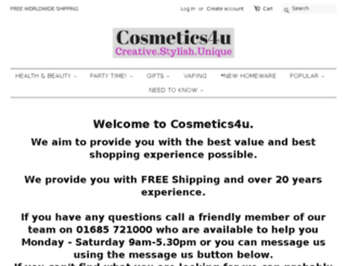 cosmetics4uonline.co.uk screenshot
