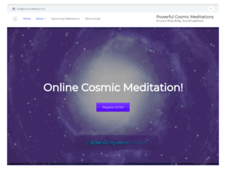 cosmicmeetup.com screenshot