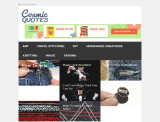 cosmicquotes.com screenshot