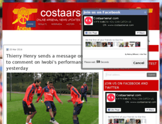 costaarsenal.blogspot.com screenshot